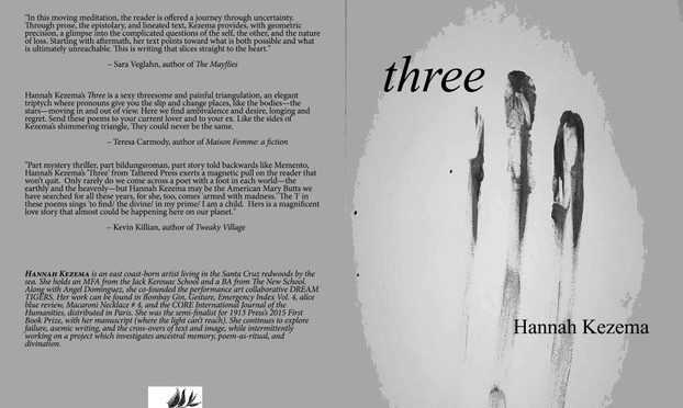 Three by Hannah Kezema, MFA '15 // Book Release